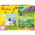 Schmidt Spiele Kinderpuzzleset 3 x 48 Teile Die Maus Viel Spaß mit der Maus
