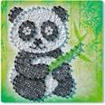 Ravensburger 2er-Set Faden-Bild String it Midi 27x27 cm Panda Fox