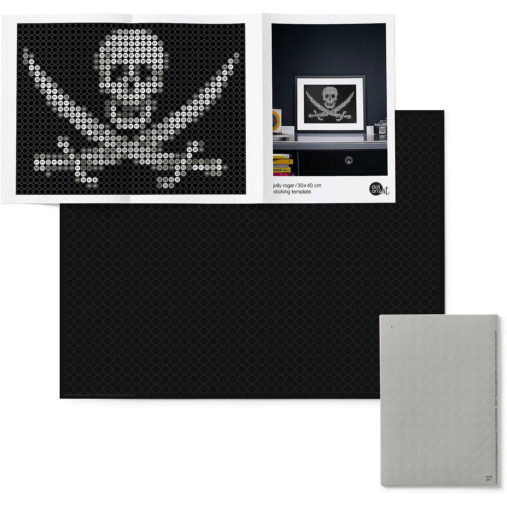 dot on dot on art pirate - jolly roger 30 x 40 cm