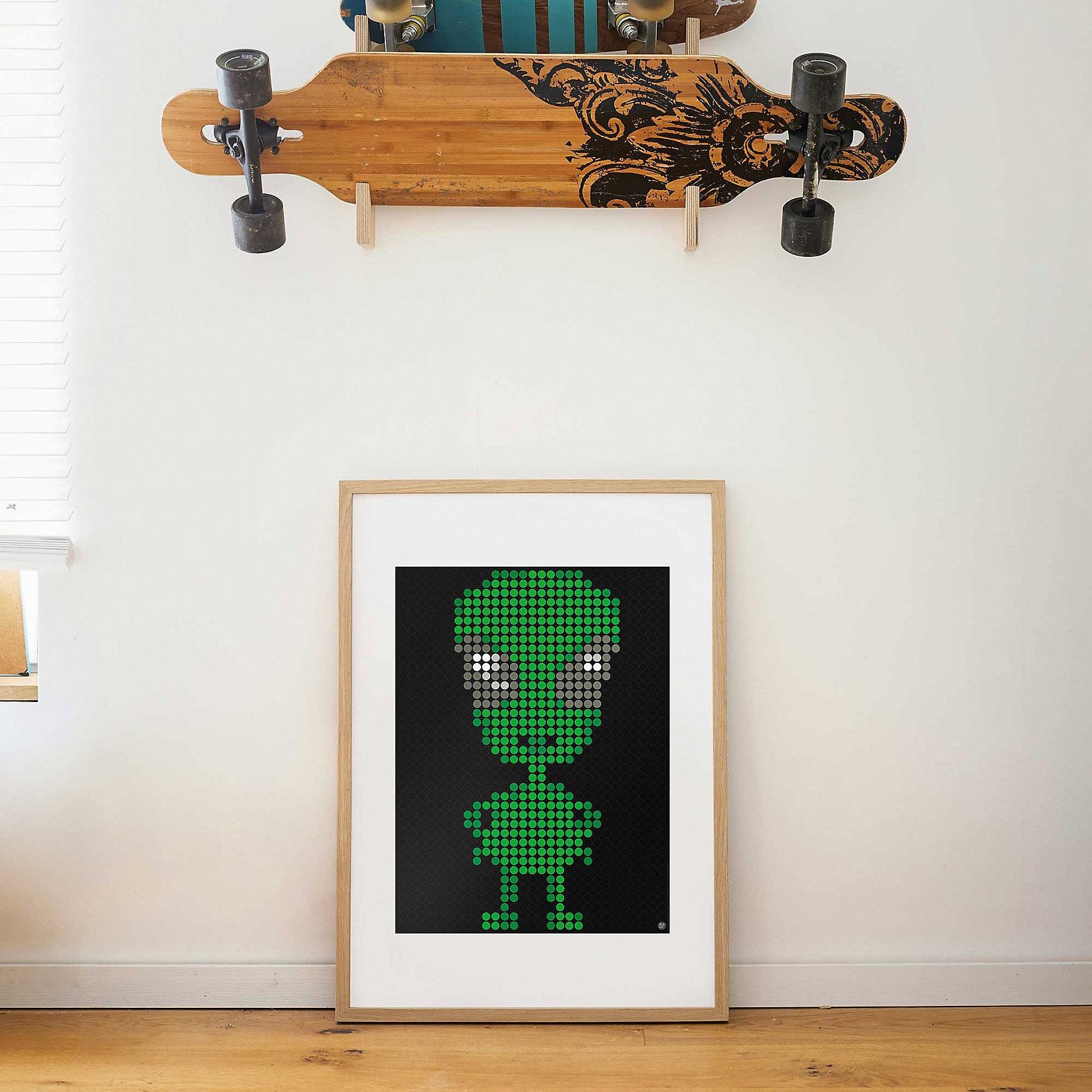 dot on art space - alien 30 x 40 cm