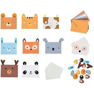 Einladungskarten Tiere 8 Stück inkl. Umschläge
