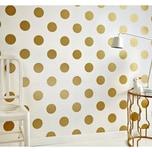 Decofun Tapete Punkte goldfarbig 10 m x 53 cm