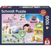 Schmidt Spiele Schmusekatzen Puzzle 1000 Teile