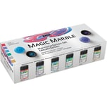 C. Kreul Marmorierfarbe Magic Marble Metallicfarben 6 X 20Ml