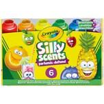 Crayola 6 Silly Scents Duftende Kinder-Fingermalfarbe