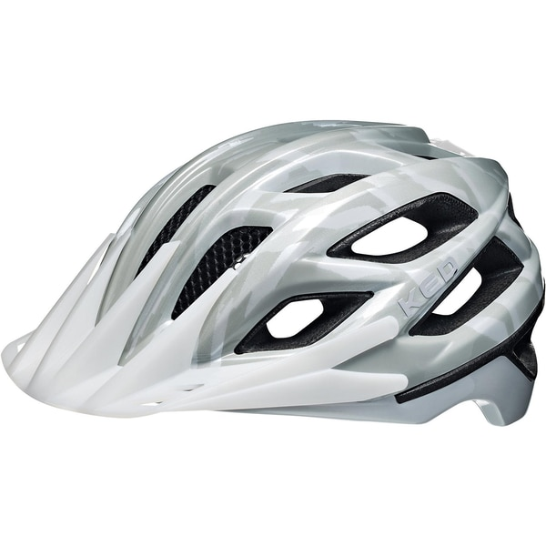 KED Helmsysteme Fahrradhelm Companion grau-weiß