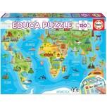 Educa Puzzle 150 Teile 48x34 cm Kontinente Bauwerke
