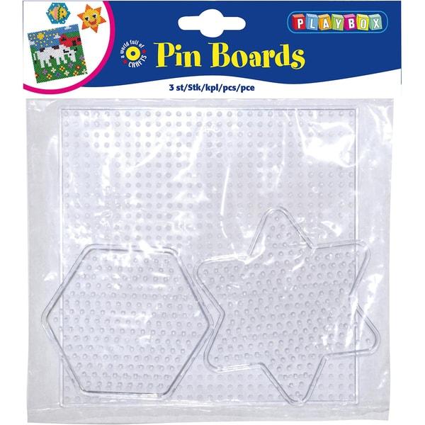 Playbox Bügelperlen Steckplatten 3 Stück Formen