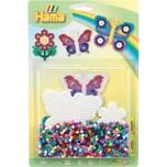 Hama Perlen 4207 Blister Schmetterlinge Blume 1.100 Midi-Perlen Zubehör