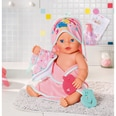 Zapf Creation Baby Born Kapuzenhandtuch und Schwamm 43 cm Puppenzubehör