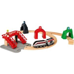 Brio Großes Smart Tech Reisezug Set mit Action Tunnels