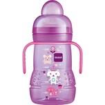 Mam Trinklernflasche Trainer PP 220 ml Silikonschnabel pink