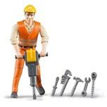 Bruder Bruder 60020 Profi-Serie bworld Bauarbeiter mit Zubehör 1:16