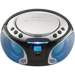 Lenco SCD-550SI - CD-MP3-Player mit FM-Radio BluetoothUSB-Anschluss und Party-Lights silber