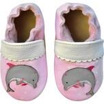 Rose Et Chocolat Krabbelschuhe Dolphin Hearts Pink für Mädchen Classic Z