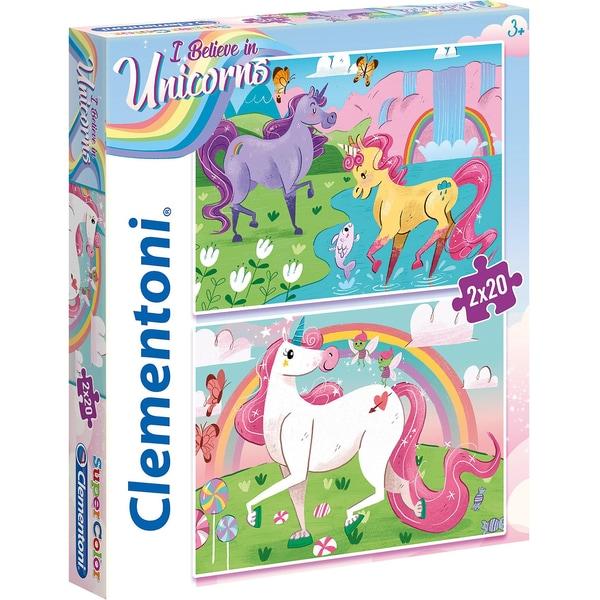 Clementoni Puzzle 2x20 Teile Einhörner