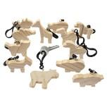 Sunnysue Holz-Schlüsselanhänger Tiere zum Selbstgestalten 12 Stück