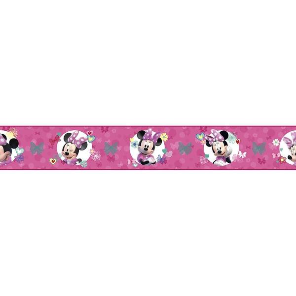 RoomMates Bordüre Disney Minnie Mouse rosa 4,57 m x 22,86 cm