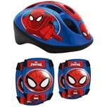 Stamp Spiderman Helm Ellbogen- Knieschützer