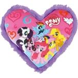 JOY TOY My Little Pony herzförmiges Kissen mit Plüschbord 33x33 cm