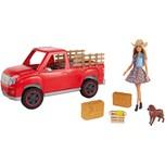 """Mattel Barbie """"Spaß Auf Dem Bauernhof"""" Fahrzeug mit Puppe"""