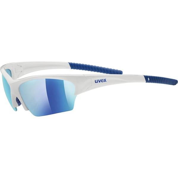 uvex Sonnenbrille sunsation white blue / mirror blue
