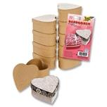 Folia Mini-Pappboxen Herz 10 Stück