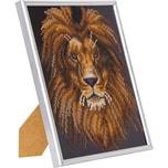CRAFT Buddy Crystal Art Kit mit Fotorahmen - Löwe 21 x 25 cm