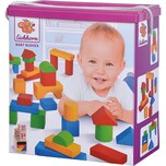Eichhorn Holzbausteine Baby Bunt 50 Stück
