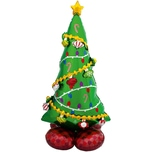 Amscan Airloonz Folienballon P70 Weihnachtsbaum 149 cm