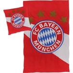 Bettwäsche FC Bayern München Linon rot/weiß 135 x 200 cm