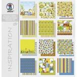 URSUS Bastelblock Premium Glitter Monster Kinderparty 12 Bogen 305 x 305 cm