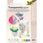 Folia Transparentpapier 115gm² CANDY DIN A4 10 Blatt 5-farbig sortiert