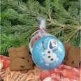 Nestler Weihnachtsbaumkugel zum Befüllen Die Eiskönigin Olaf 10 cm