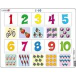 Larsen Rahmen-Puzzle 10 Teile 36x28 cm 1 Bis 10 Zählen