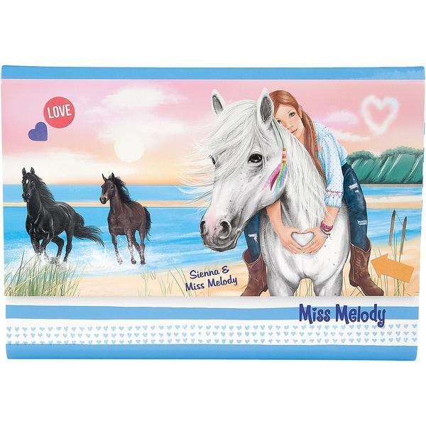 Depesche Miss Melody Briefpapier in Fächermappe blau