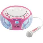Lenco Lenco CD-Player mit USB Radio SCD-650 pink