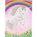 CRAFT Buddy Einhorn-Regenbogen-Riesenkristall-Kunstkartenset