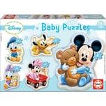 Educa 5er-Set Puzzle 3-5 Teile Disney Baby Mickey