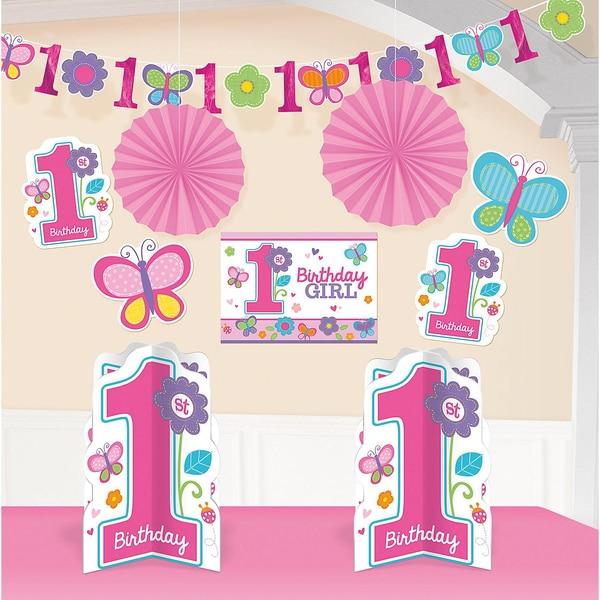 Amscan Dekoset Sweet Birthday Girl 10-tlg.