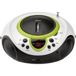 Lenco SCD-38 USB grün - Boombox CD-MP3-Player mit Radio und USB-Anschluss