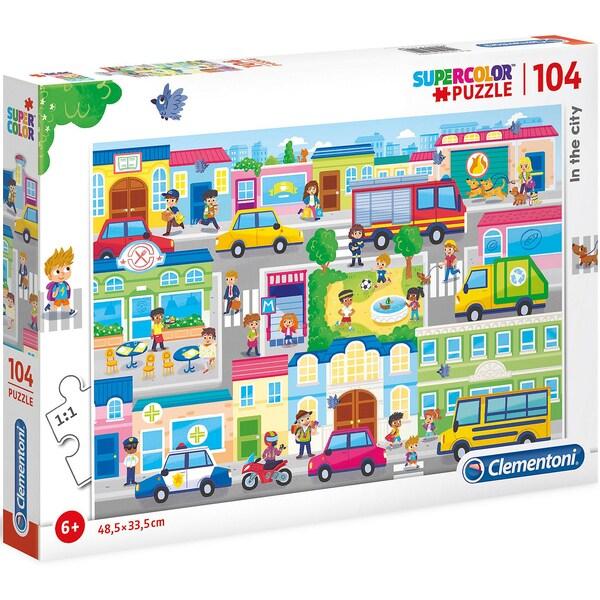 Clementoni Puzzle 104 Teile in der Stadt