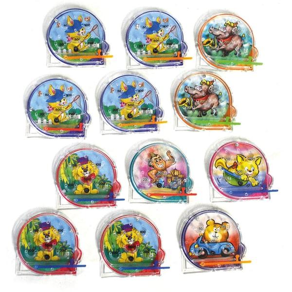 Funny Fashion Pinball-Spiel Tiere 12 Stück