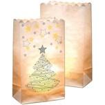 Folia Lichtertüten aus Papier Motiv Weihnachtsbaum 10 Stück