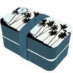 P:OS Blue Bananas Sunrise Beach Brotdose Bento inkl Besteck