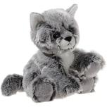Heunec GLITTER-KITTY Katzen-Baby graumeliert 20 cm