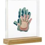 Baby Art Bilderrahmen My Family Prints inkl. 4 Plexischeiben mit Holzaufsteller