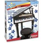 Bontempi Elektronisches Grand Piano mit Stuhl und Mikrofon