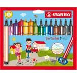 STABILO Filzstifte Trio Scribbi 14 Farben