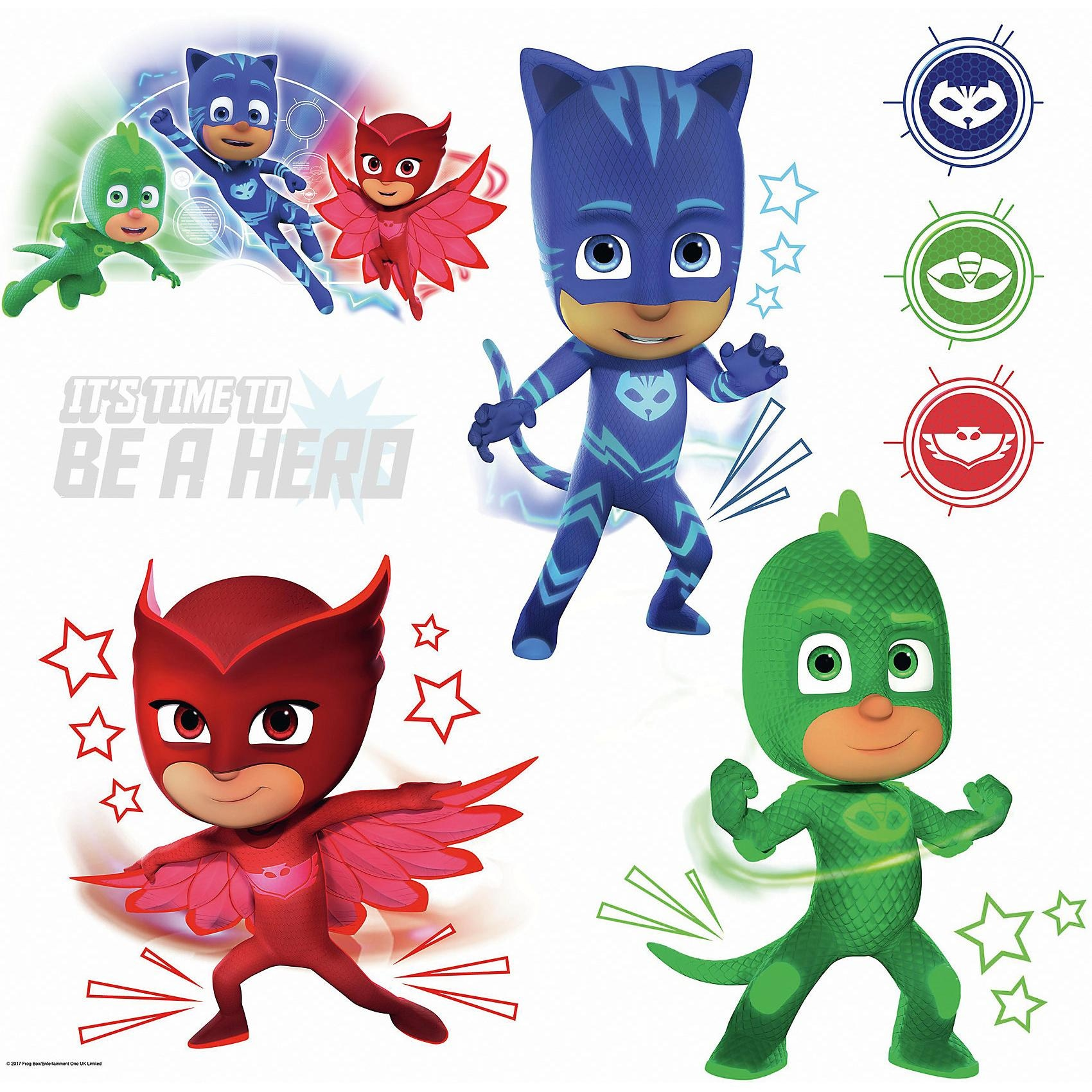 RoomMates Wandsticker PJ Masks with Glow 8-tlg.